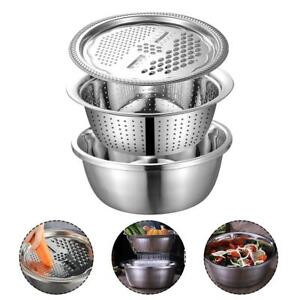 Kitchen Graters Cheese Grater Draining Basin Sieve Stainless Steel Drain Basin