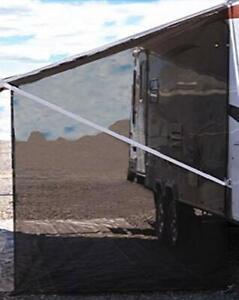 Camper RV Awning Side Shade Black Mesh Screen for Camping Trailer Canopy