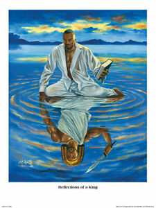 Reflections of a King by A.C. Smith African American Art Print 18x24 $24.50