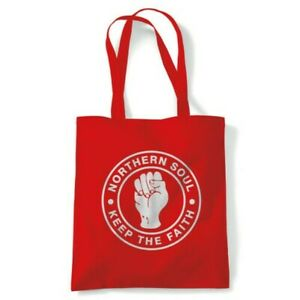 Keep The Faith Tote Northern Soul MOD Reusable Shopping Canvas Bag Gift