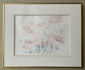LYN SNOW LTD ED Lithograph of Watercolor quot;Oriental Poppy Iquot; Hand Signed Floral $99.00
