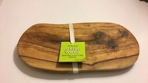 """Trader Joe's Olive Wood Cutting Board Serving Cheese Tray 12""""x 6"""