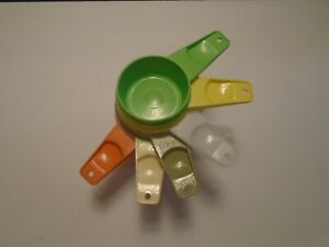Tupperware Multi Color Measuring Cups Complete Set of 6 Cups