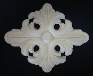 WOOD EMBOSSED APPLIQUE 4 3/16