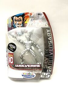 Marvel Legends Toys R Us Exclusive SILVER WOLVERINE 25th Anniversary Limited $24.95
