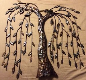 Metal Weeping Willow Tree Home Interior Wall Art Hanging Decoration Sculpture $34.99