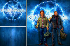 POSTER BACKDROP SHIPS ROLLD SUPERNATURAL LOGO FOR QMx 1 6 FIGURE DEAN WINCHESTER
