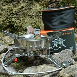 Gas Stove Outdoor Camping Picnic Practical 6800W BBQ Split Cooking Hiking Tools