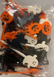 72 Count Halloween Cupcake Picks Topper Jack O Lantern Cats Ghosts Free Shipping