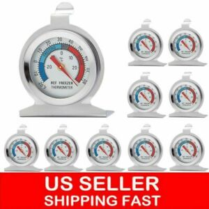 LOT Stainless Steel Dial Thermometer Temperature Gauge for Refrigerator Freezer