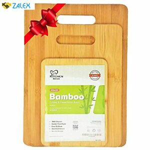 K BASIX Bamboo Cutting Board 3 Piece Set Made From Premium 100% Organic And Saf