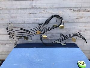 Curtis Jere Large Music Notes Mid Century Modern Wall Art Sculpture Signed 1991 $425.00