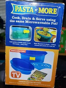 Pasta n' More Microwave Pasta Cooker Brand New In Box Cook Drain Serve