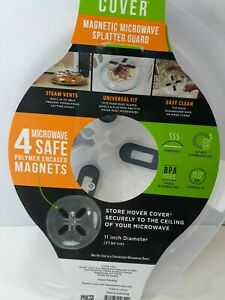 Hover Cover Magnetic Microwave Splatter Lid with Steam Vents Cover