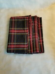Sugar Paper Los Angeles for Target Tartan Plaid Napkins Set of 4 Holidays  C