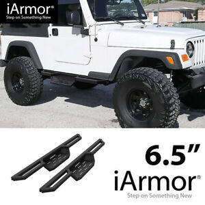 iArmor 6.5quot; Drop Steps Side Armor Square for 87 06 Jeep Wrangler TJ YJ 2Dr $220.00