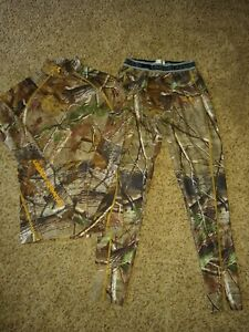 UNDER ARMOUR Men's CAMO COLDGEAR & PERFORMANCE Long Underwear Fitted Size MD EUC $46.99