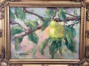 Original Framed Impressionism Daily Oil Painting Linen 9