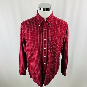 Vintage Brooks Brothers Sports Shirt Red Button Front Shirt Men's Large L $12.74