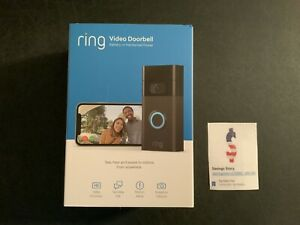 Ring - Video Doorbell (2nd Generation) - Venetian Bronze, Alexa, Wireless NEW