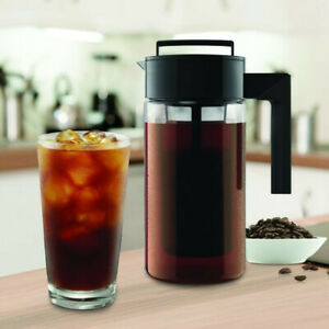 900ML Cold Brew Iced Coffee Maker Airtight Seal Silicone Handle Coffee Kettle Q