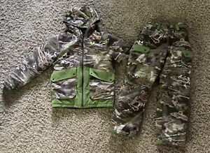 Under Armour Camo Youth Boys Hunting Winter Cold Gear Coat Pants M Medium 10 12 $109.95