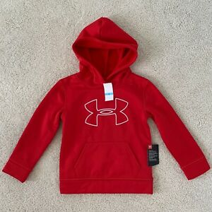 UA Under Armour Boy's Big Logo Hoodie, Kids, Youth Size 5, Red $10.99