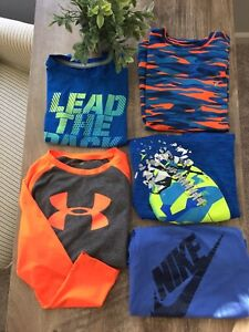 Boys Clothes Shirts Size 6 7 Under Armour Old Navy Lot $17.50
