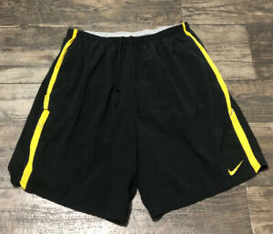 Nike Dri Fit LIVESTRONG LINED Running Shorts BLACK YELLOW MENS Size XL $19.95