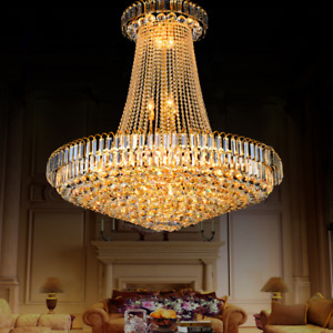 Modern K9 Crystal Chandelier Ceiling Lighting Pendant Lamp Fixtures Living Room