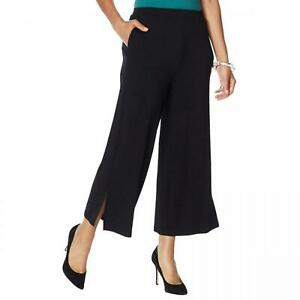 NWT WynneLayers Womens Pull On Knit Wide Leg Crop Pant. 694697