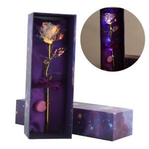 24K Gold Foil Rose Flower LED Luminous Galaxy Mother's Day Valentine's Day GiftS
