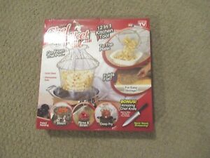 NIB Chef Basket 12 in 1 kitchen tool solid steel Dishwasher safe ,fry, steam ect