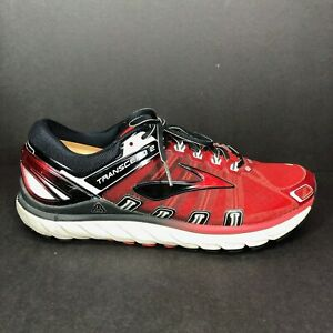 Brooks Transcend 2 Mens Size 12 D Red Black Running Shoes Sneakers EUC $49.87