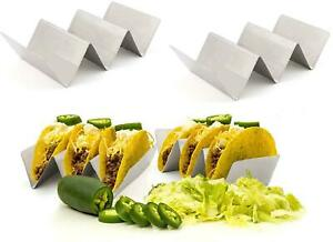 Stainless Steel Taco Holder Stand Taco Truck Tray Style Oven Safe Hold 2 3 Tacos