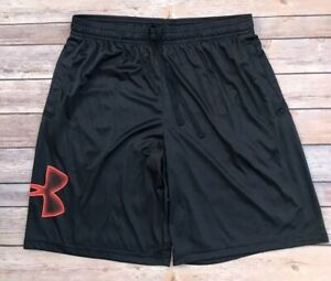 Under Armour Loose Dark Gray Heat Gear Athletic Shorts Size Large $14.95