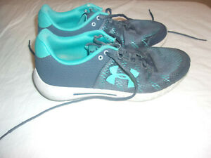 Under Armour Shoes Size 10 Womens Athletic Blue Grey $10.00