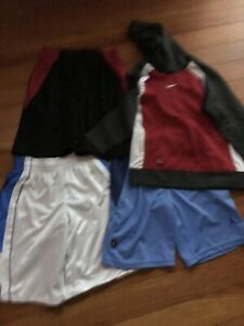 Boys Nike Shorts Reversible Columbia Shirt Hoodie Pants Grey Russel Small 8 10 $12.00