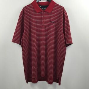 Under Armour loose fit heat gear striped polo shirt $25.00
