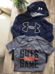 Boys Under Armour Clothes Size M Med Medium Shirts Hoodie Lot 7 8 $13.50