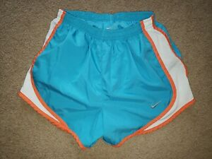 Nike Dri Fit Lined Shorts Athletic Running Womens Extra Small XS Blue Orange $0.99