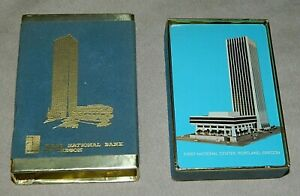 Vtg First National Bank Oregon Playing Cards First National Center Portland OR $10.99