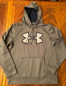 Under Armour 100% Polyester Logo Hoodie X Storm Gray, size Small $2.25
