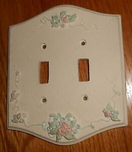 DOUBLE SWITCH FLORAL LIGHT PLATE