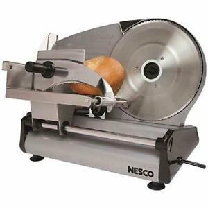 Electric Food Slicer Meat Cheese Bread Fruit Cutter 8.7quot; Blade Heavy Duty NESCO