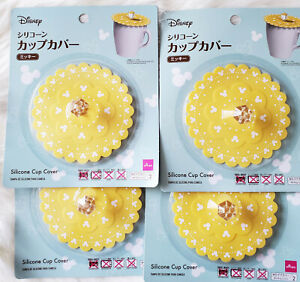 MICKEY DISNEY YELLOW SILICONE CUP COVER 4 PCS