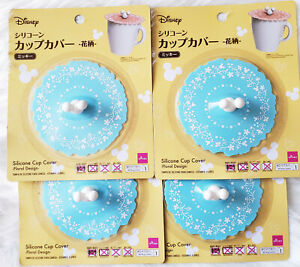 MICKEY DISNEY BLUE SILICONE CUP COVER 4 PCS