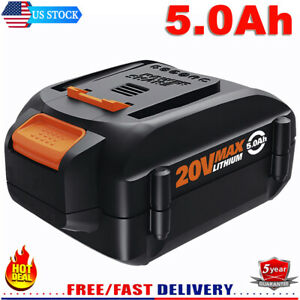 Upgraded 5000mAh 20V Lithium Battery WA3578 for Worx 20 Volt WA3520 WA3525 WG155