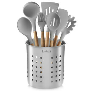 Stainless Steel Kitchen Utensil Holder Kitchen Caddy Utensil Organizer Round