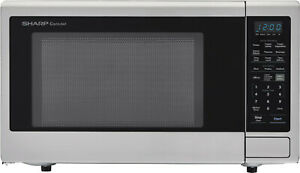 Sharp SMC2242DS 2.2 Cu Ft 1200W Stainless Steel Countertop Microwave Refurbished